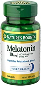 Nature's Bounty Melatonin 10mg Capsules 60 ea (Pack of 2)