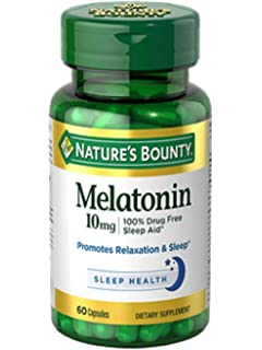 Amazon.com: Natures Bounty Melatonin 10 mg, 60 Capsules ...