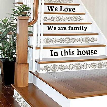 IncredibleWallDecals Escalier Stickers Citation Nous Notre ...