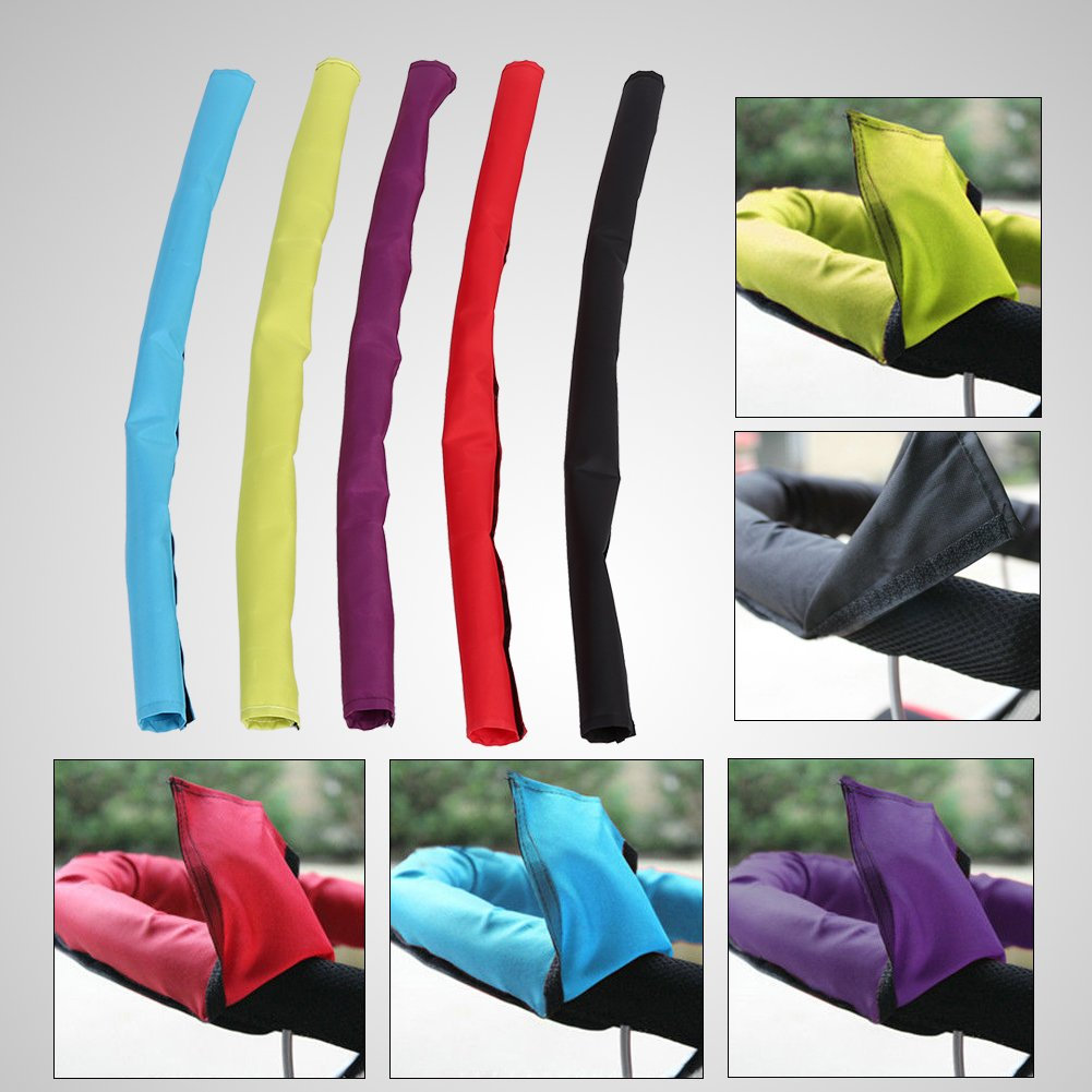 Oxford Cloth Baby Pushchair Stroller Fabric Handle Sleeve Bar Gloves Cover Waterproof with Hook Loop Removable Pram Hand Glove Handrail Cover Red GLOGLOW 725mmx145mm Pushchair Bar Cover