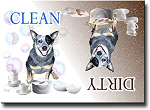 Australian Cattle Dog Clean Dirty Dishwasher Magnet