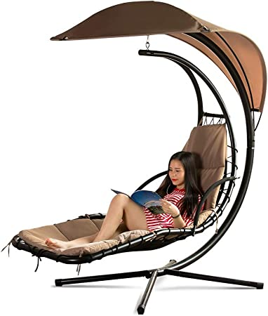 Hengtongtongxun Hamaca al Aire Libre Superior: Silla Colgante para Adultos, Columpio Hamaca Perezoso, balcón, Patio, jardín El último Estilo, Simple. (Color : Brown): Amazon.es: Deportes y aire libre