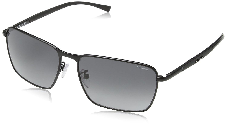 Police Men s S8966 Big Match 1 rectangular Sunglasses  Amazon.co.uk   Clothing a4f77ca034