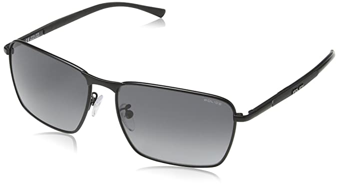 Police Gafas de sol Rectangulares S8966 Big Match 1, SEMI-MATT BLACK FRAME/