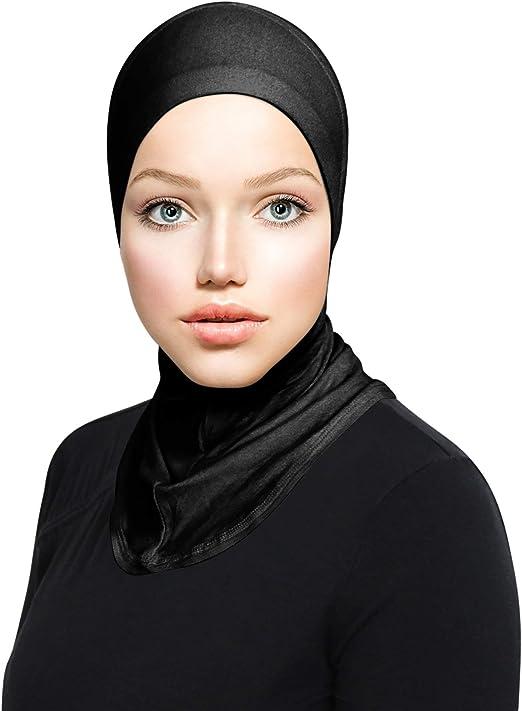 TheHijabStore.com Womens Ninja Hijab Cap Under Scarf Stretch Jersey Full Neck Coverage Hejab - Head Scarf Bonnet Accessories