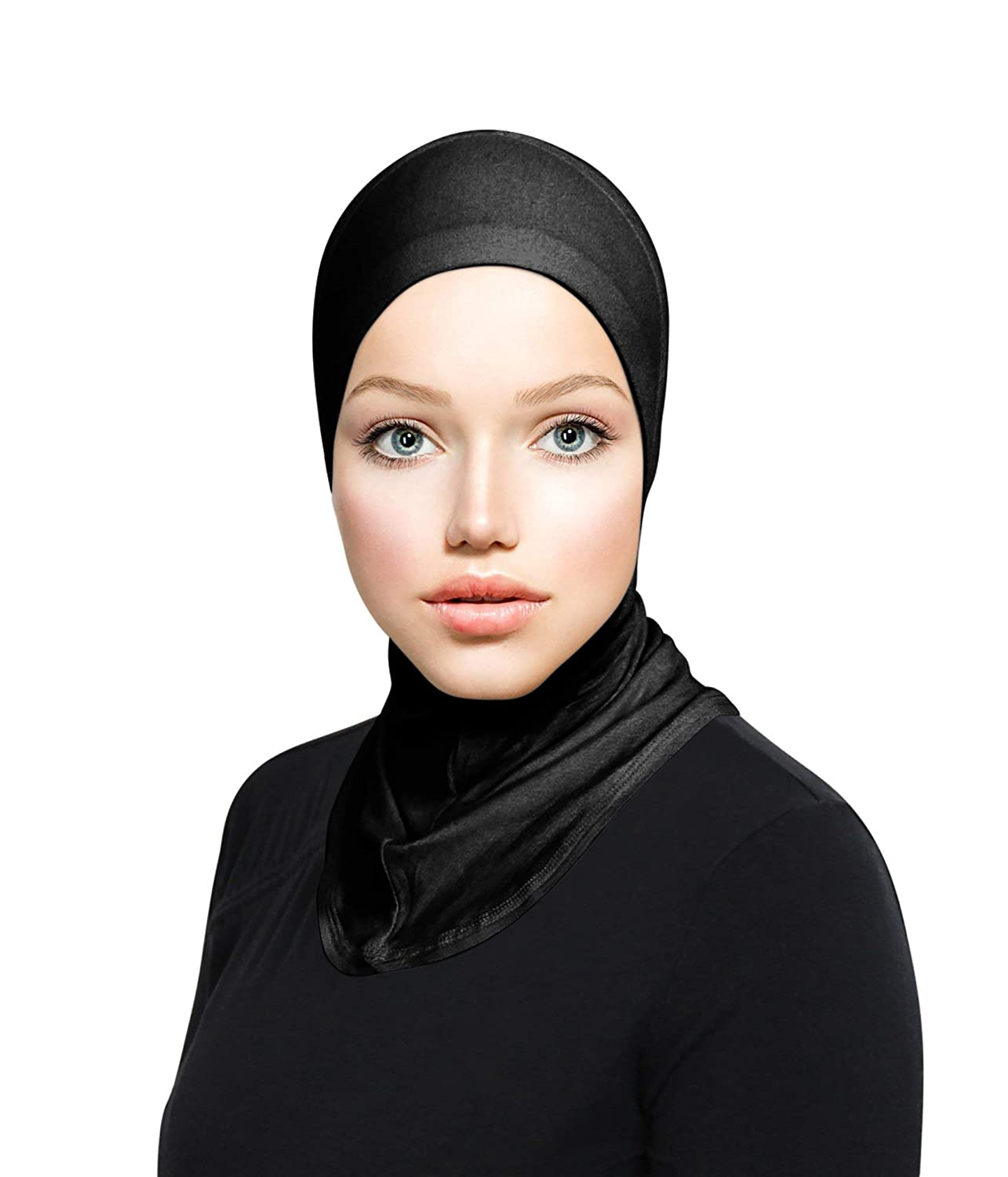 TheHijabStore.com Women's Ninja Hijab Cap Under Scarf Stretch Jersey Full Neck Coverage Hejab - Head Scarf Bonnet Accessories