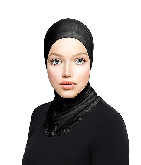 b235562b368 Amazon.com  Ninja Cotton Jersey Inner Neck Under Scarf for Hijabs Black   Clothing