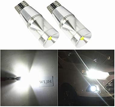 24V 2x T10 White 194 168 W5W COB LED CANBUS Glass License Plate Light Bulb 12V