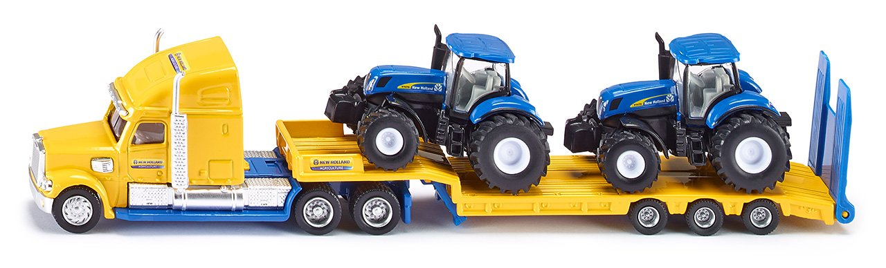 Siku New Holland Truck With 2 New Holland Tractors 1:87,vehicle