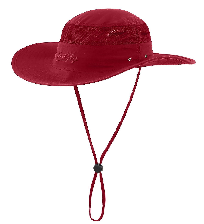 Home Prefer Men's Sun Hat UPF 50+ Wide Brim Bucket Hat Windproof Fishing Hats HP0276-AG