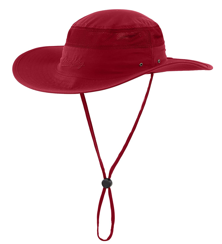 629a29fc0ac6b Home Prefer Mens Sun Hat UPF 50+ Wide Brim Bucket Hat Windproof ...