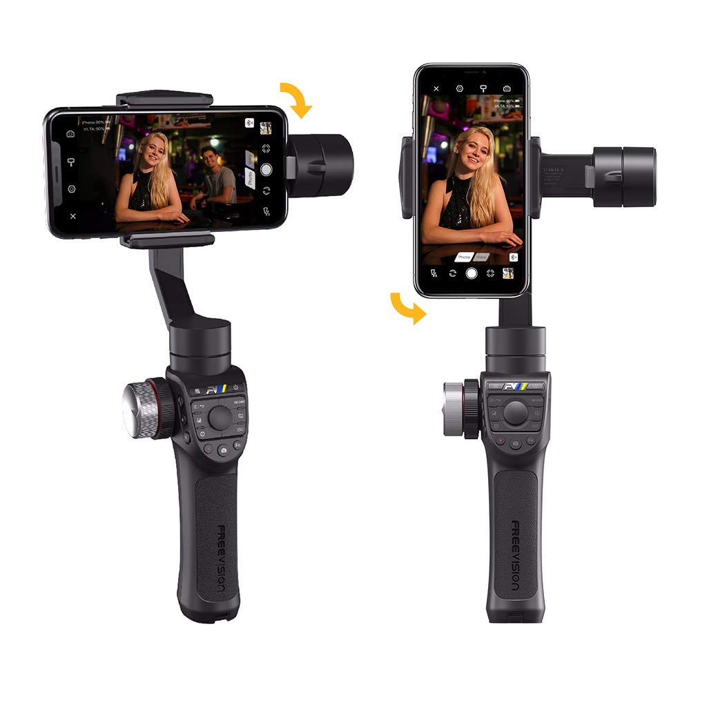 for Freevision VILTA-m Pro Handheld Gimbal Stabilizer Selfie Stick 3-Axis for Phones & Action Cameras, 17 Hours Battery Endurance