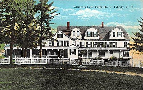 Clements Lake Farm House Liberty, New York, Postcard - Lake House Liberty