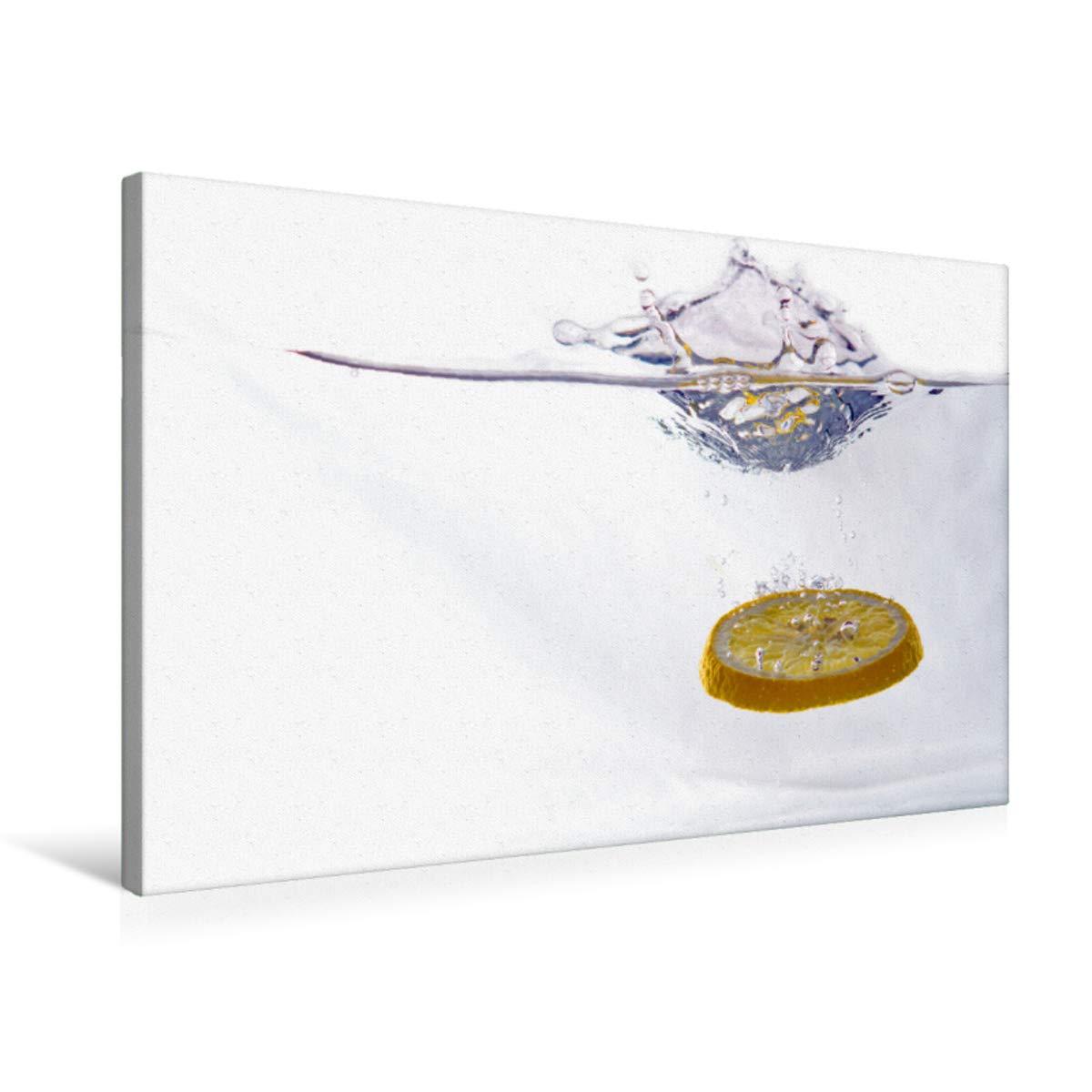 Premium Textil-Leinwand 75 x 50 cm Quer-Format Zitrone   Wandbild, HD-Bild auf Keilrahmen, Fertigbild auf hochwertigem Vlies, Leinwanddruck von Gerhard Albicker