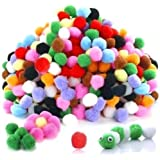 Lovely Arts Collection Acrylic Woollen Yarn 2cm Pompom Balls, Multicolour (Pack of 100) -LAC38
