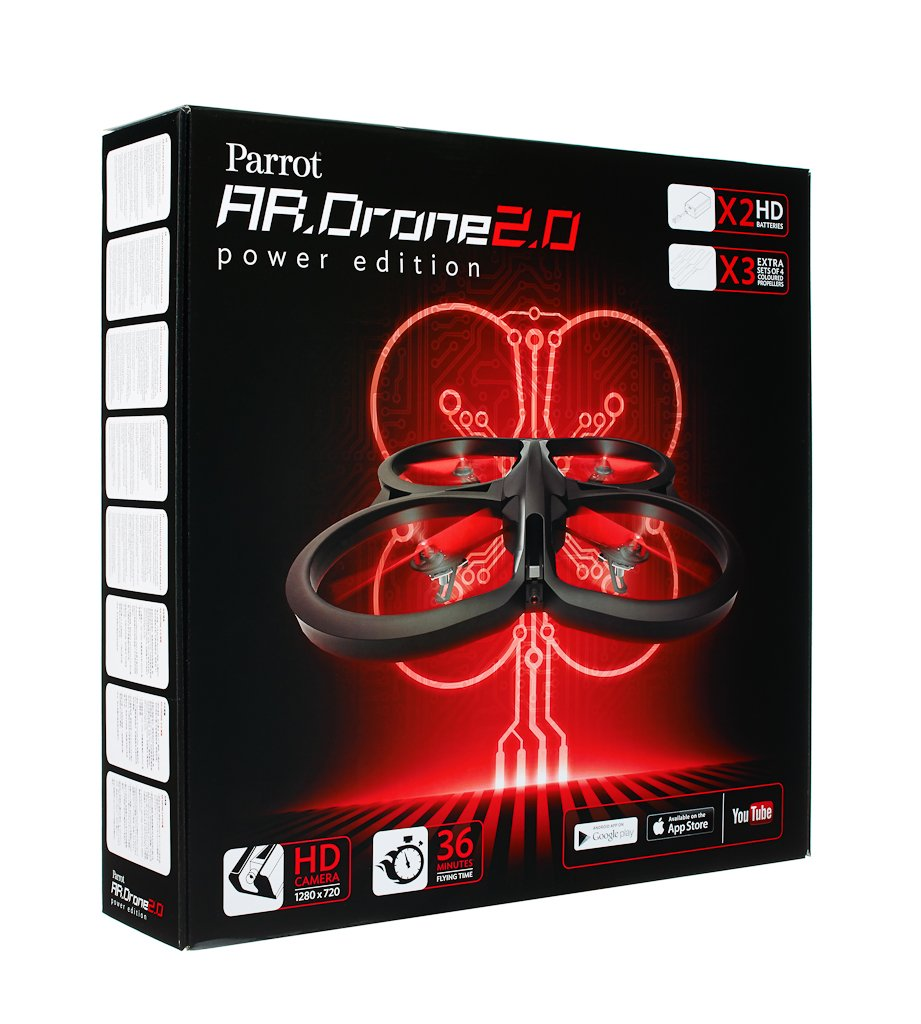Parrot AR.Drone 2.0 Power Edition Quadrocopter (geeignet für Android-/Apple-Smartphones Android-/Apple-Smartphones für und -Tablets) rot 4ff18b