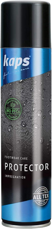 Kaps Protector - Spray Protector para Calzado - Aerosol Impermeable para Botas y Zapatos de Cuero y Tela - Sin Flúor ni PFC