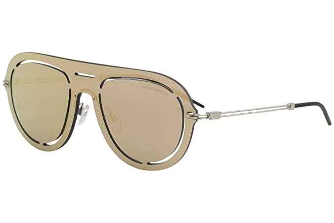 Emporio Armani 0ea2057 30154z 41, Gafas de Sol para Hombre, Grey Mirror Rose Gold