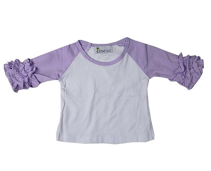 aef422f5628f Amazon.com: Kirei Sui Raglan Icing T-Shirts 6M Lavender: Clothing