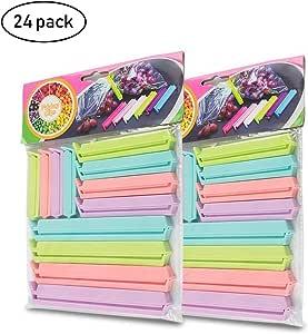 MUCHEN SHOP Clip de Bolsas de Plástico,24 Pack Clips de Sello para ...