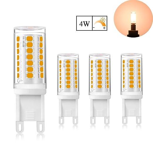 4W LED G9 Capsule Dimmable Light Bulb Warm White 3000K, 360 Degrees ...