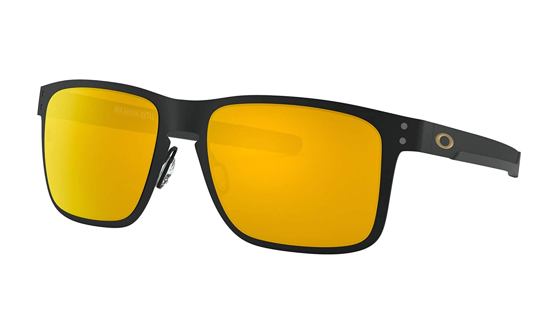 9c3fbc7d4f Oakley Holbrook Metal Sunglasses Matte Black with 24K Gold Iridium Lens +  Sticker  Amazon.ca  Sports   Outdoors