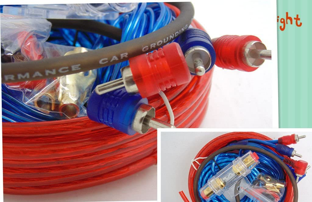 Car Audio Wiring Subwoofer 1500W 8GA Amplifier AMP Wiring Fuse Holder Wire Cable Kit