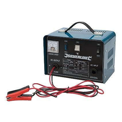 Silverline 178555 - Cargador de batería 12/24 V (Para baterías de 20-240 Ah)