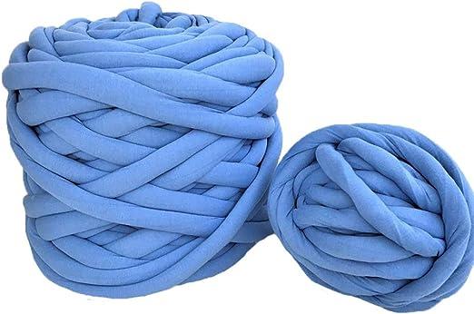 Hand Knit Yarn Ovillo de Hilo de algodón Grueso Lavable, Hilo ...
