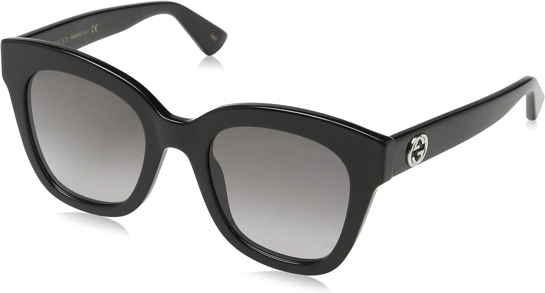 Gucci GG0226S 001 Gafas de Sol, Negro (1/Grey), 56 para Mujer