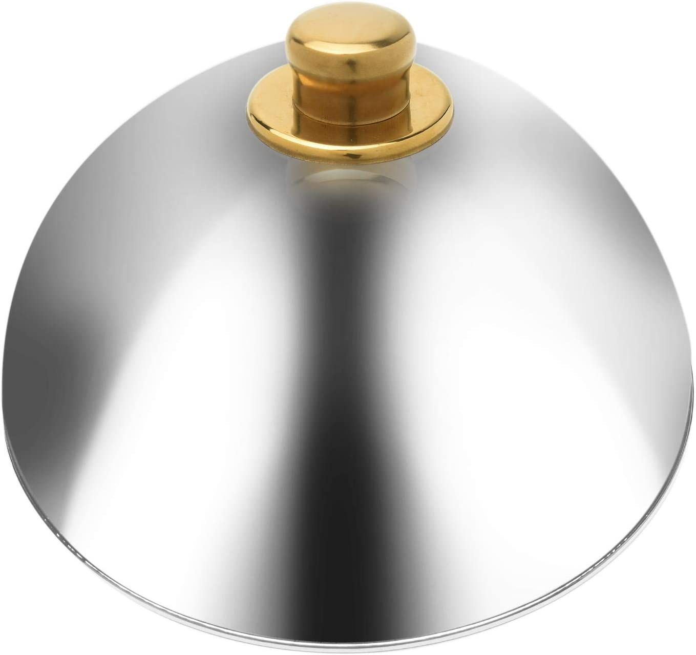 Food Dome Cover, 10inch Melting Dome Plate Covers, Stainless Steel Cake Tent Cover Dome with Anti-scald Knob for Home Kitchen Pot Lid