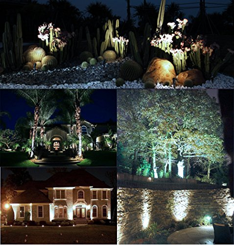 ONEVER LED Mini garden Light, 3W 300Lumen Waterproof LED Lawn Lamp Lights for Home Garden Decor, DC 12V, Cool White (Pack of 1X)