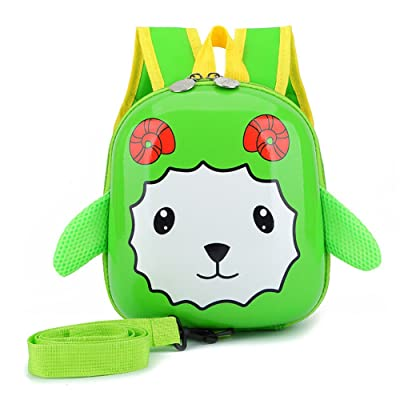 LANSHULAN Baby Toddler Mini Safety Anti-lost Goat Backpack with Safety Leash for 1-4 Years