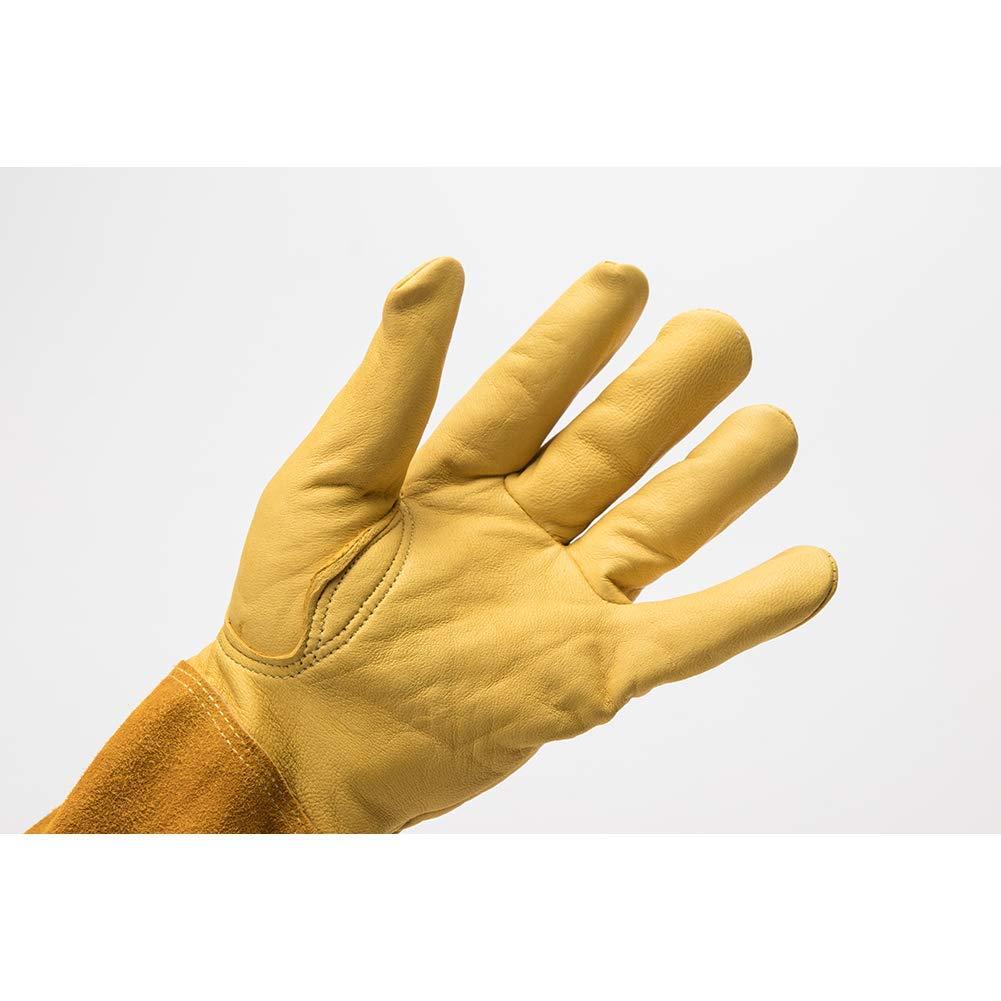 amarillo guantes de jard/ín Guantes de jardiner/ía para mujer con brazo largo a prueba de torno