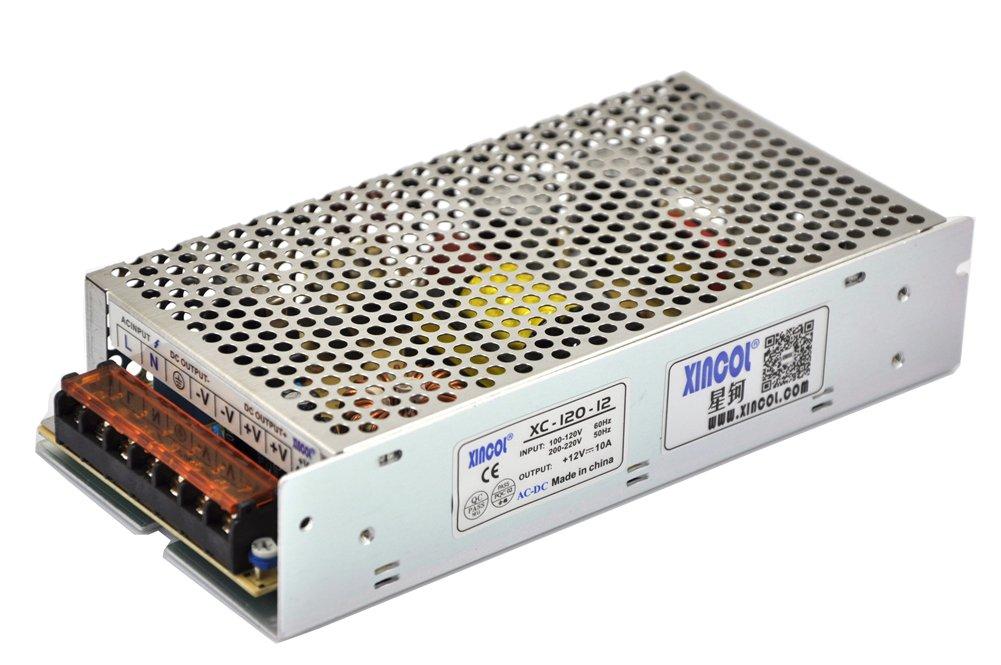 XINCOL LED Trasformatore di Alimentazione Interruttore AC 220/110V to DC 12V 10A 120W XINCOL Global Co. Ltd. XC-120-12
