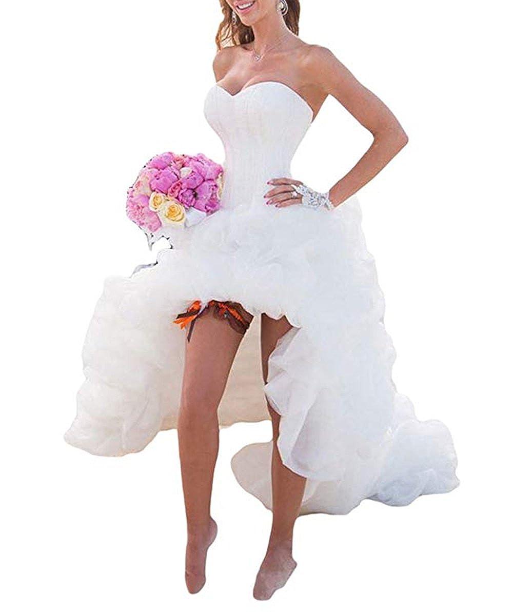 Alilithz Sexy Sweetheart Bodice Satin Beach Wedding Dresses For