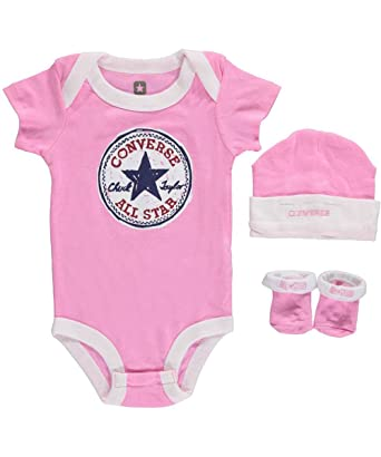d1a3a0a4d4c6 Amazon.com  Converse Baby Clothing Set Vintage Allstar (0-6M) Pink ...