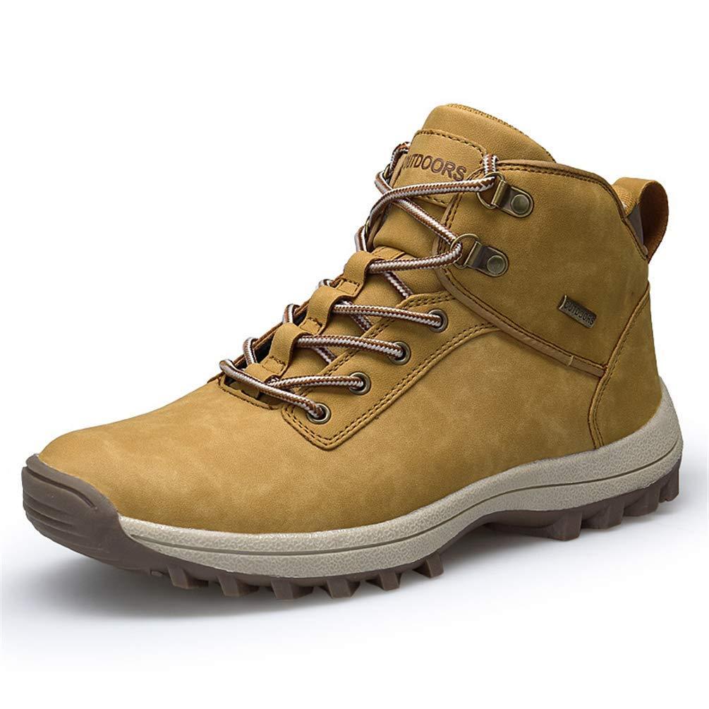 ZHRUI Herren Wanderschuhe Bergsteigen Stiefel Outdoor Sportschuhe Trekking Turnschuhe (Farbe   Kamel, Größe   5.5=39 EU)