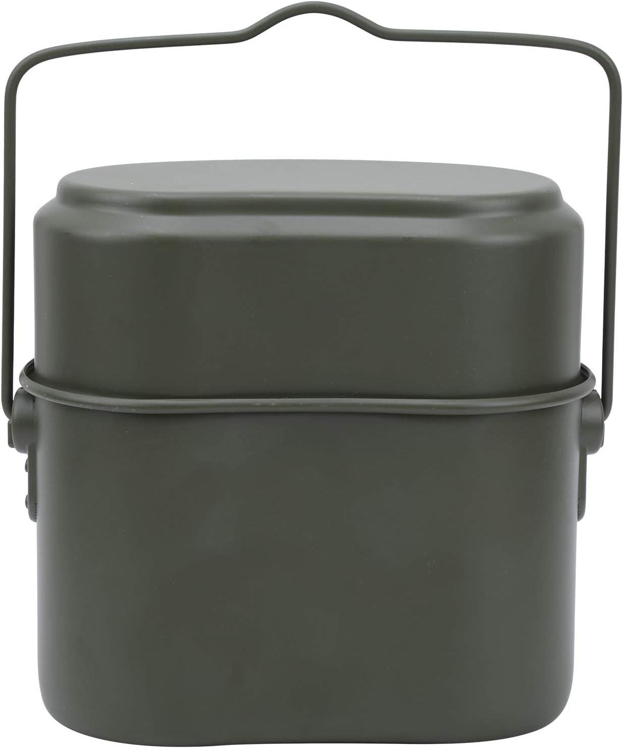 nobrands Fiambrera de Aluminio Verde Fiambrera Recipiente de Comida calentable Vajilla de Camping Fiambrera para Exteriores