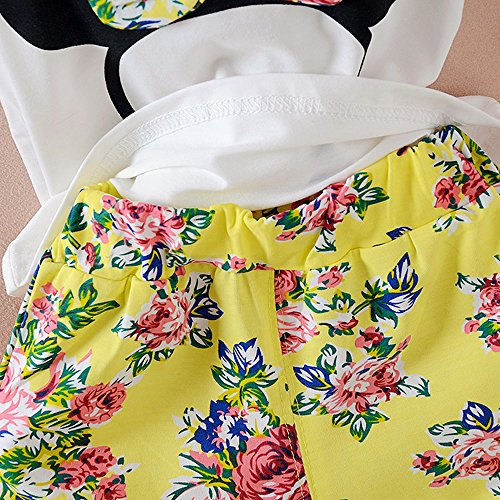Baby Girl Clothes Outfits Short Sets 2 Pieces with T-Shirt + Short Pants (Yellow, 18-24 Months) by MH-Lucky (Image #3)