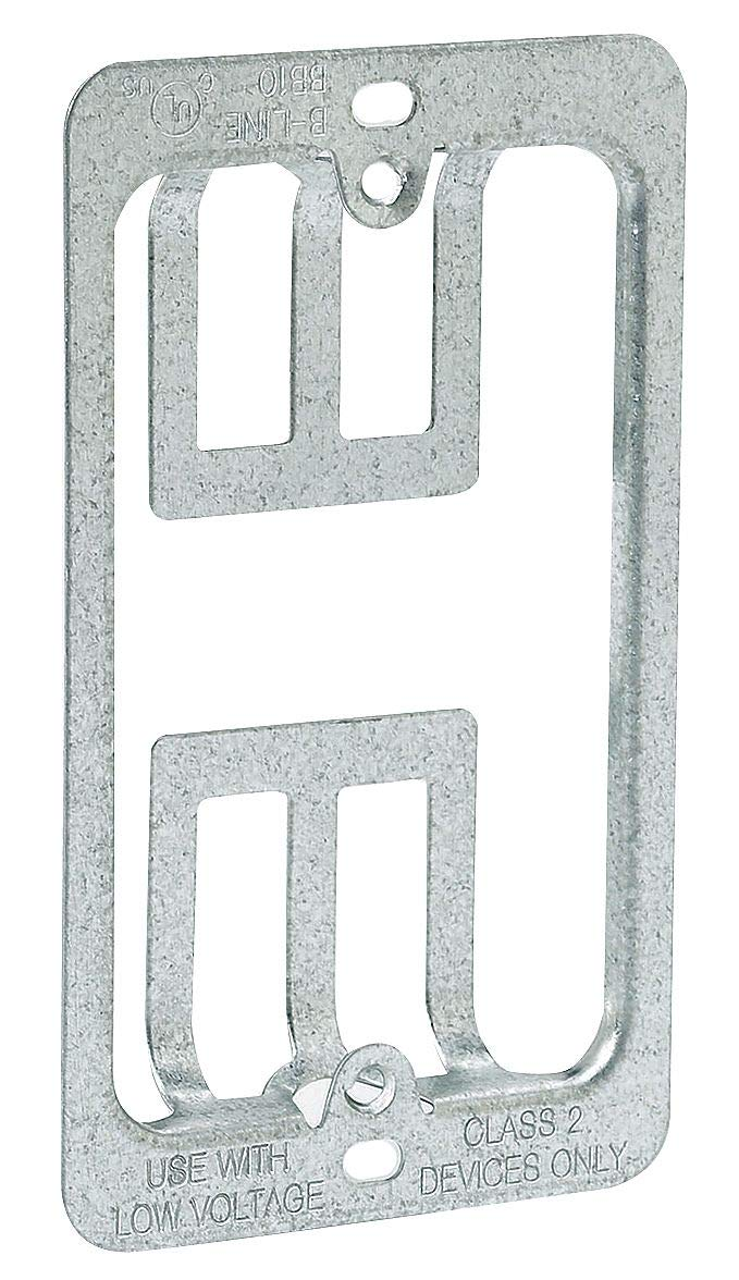 B-Line By Eaton Pre-Galvanized Steel Communication Mounting Bracket, For Use With Low Voltage Class 2 Outlets - BB10, (Pack of 20)