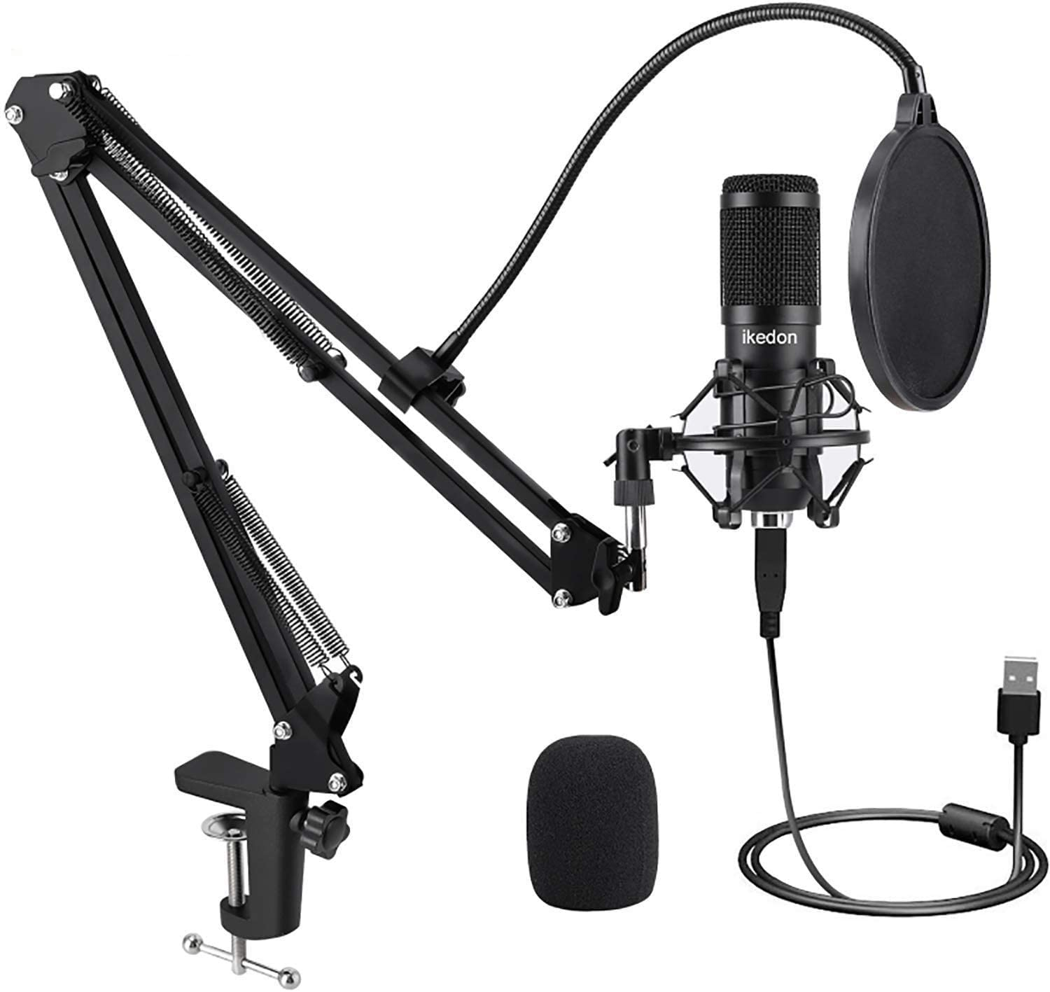 USB Condenser Microphone 192KHZ//24BIT USB Microphone Kit Podcast Microphone USB Computer Studio Cardioid Condenser Mic Kit with Professional Sound Chipset for Recording Broadcasting YouTube Gaming