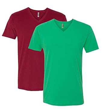a95efc5f5c2 Image Unavailable. Image not available for. Color  Next Level Apparel 6440  Mens Premium Fitted Sueded V-Neck Tee ...