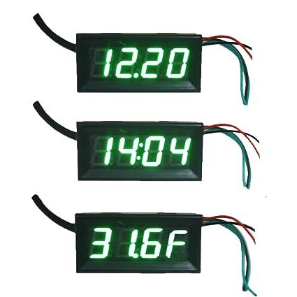 ximico fahrenheit scale f 0 56 dc 12v digital car clock rh amazon com