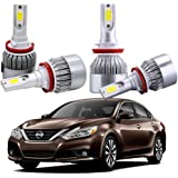 Combo H9 H11 LED Headlight Kits Bulbs For Nissan Altima 2017-2007 High Low Beam