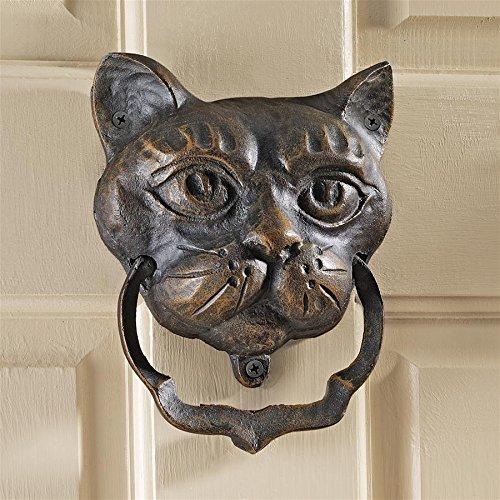 (Design Toscano Black Cat Iron Door Knocker)
