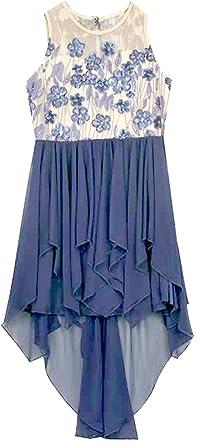 483b80a8d8 Amazon.com  Rare Editions Big Girls Deep Blue High Low Chiffon Dress ...