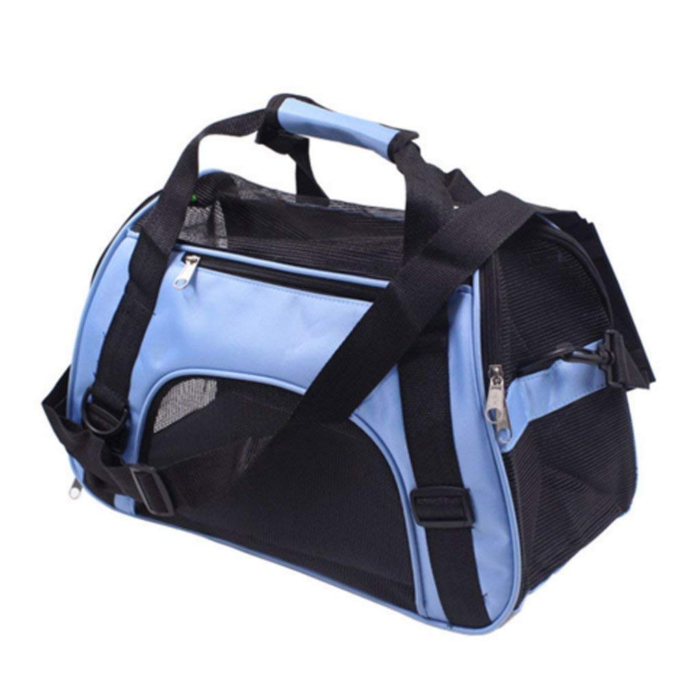 bluee BeTti Bag Cat Dog Case Bag Bag Portable Carry Carry Go Out Breathable Cat Dog Inclined Bag Large Cat Bag Cage Fold (color   bluee)