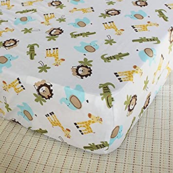 Cotton Crib Sheet Cute Cartoon Print Fitted Crib Sheet of All Kinds Baby Crib Bedding Sheets Pink Heart Shape Flower