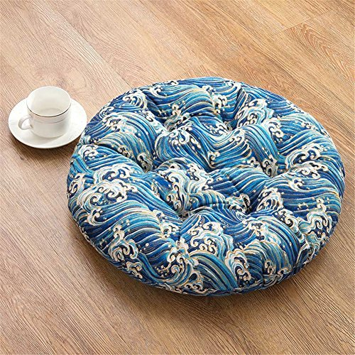 - Thick Seat Chair Cushion Pads Tatami Soft Mat Cushion Seat Sofa Back Stuffed Cushion for Home Office Dining Chair(Wave,19.7x19.7 inch)